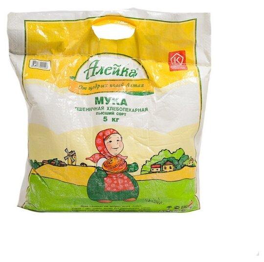 Мука Алейка пшеничная хлебопекарная высший сорт