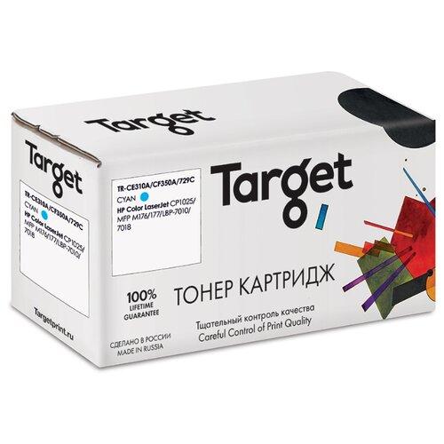 Фото - Тонер-картридж Target CE311A/CF351A/729C, голубой, для лазерного принтера, совместимый тонер картридж target tk715 черный для лазерного принтера совместимый