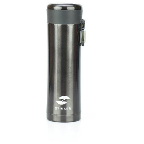 Термокружка STINGER HW-420-32, 0.42 л матовый черный