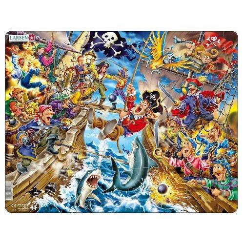 Фото - Рамка-вкладыш Larsen Пираты (US37), 39 дет. рамка вкладыш larsen россия k50 100 дет