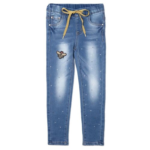 Джинсы playToday размер 146, синий джинсы playtoday playtoday mp002xb00a99