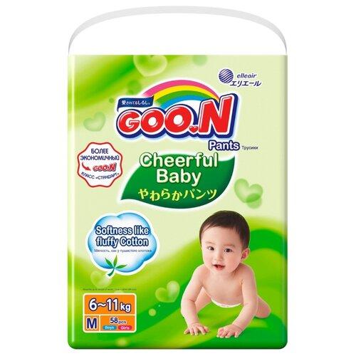 Goo.N трусики Сheerful Baby M (6-11 кг) 58 шт.