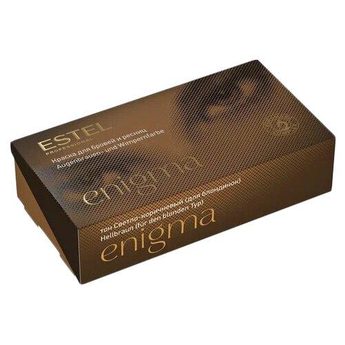 Estel Professional краска для бровей и ресниц Enigma светло-коричневый