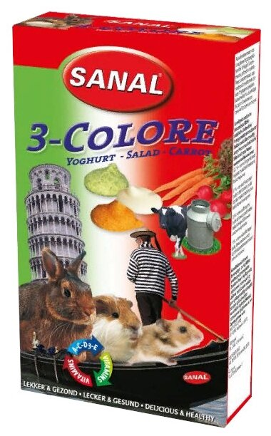 Лакомство для кроликов, грызунов SANAL 3 Colore