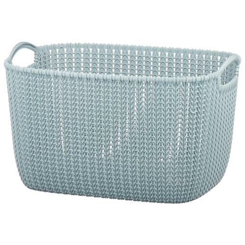 Фото - CURVER Корзина Knit 30x40x23см голубой корзина для хранения curver knit 3 л прямоугольная голубой