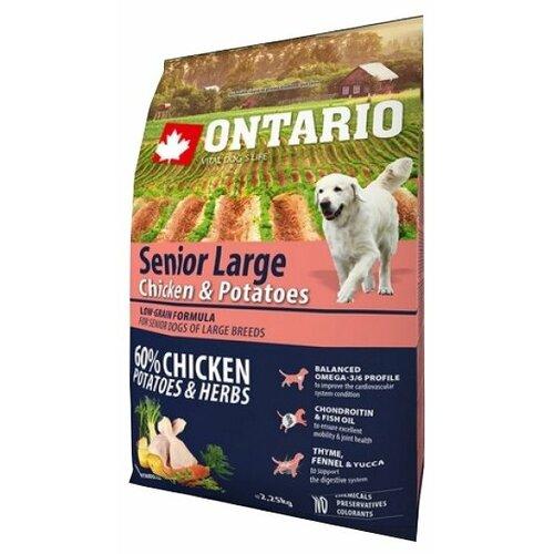 Корм для собак Ontario (2.25 кг) Senior Large Chicken & Potatoes 2.25 кг (для крупных пород)