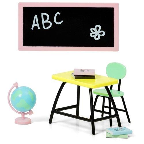 Купить Lundby Набор мебели Школа (LB_60501600) черный, Мебель для кукол