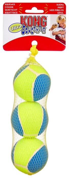 Мячик для собак KONG Ultra SqueakAir средний, 3 шт (AUT2E)