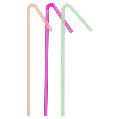 Paterra Трубочки для напитков одноразовые пластиковые Праздничные (50 шт.) разноцветные