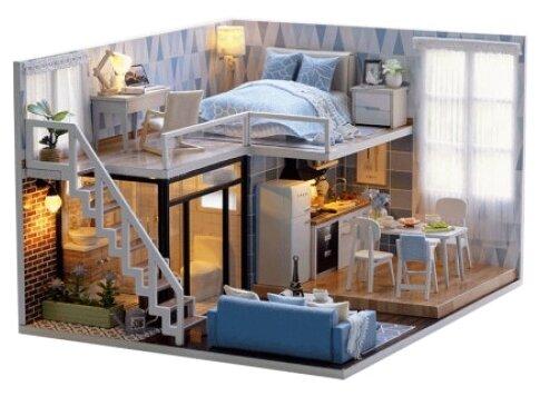Сборная модель Happy home Румбокс Таунхаус у моря (mi0616)