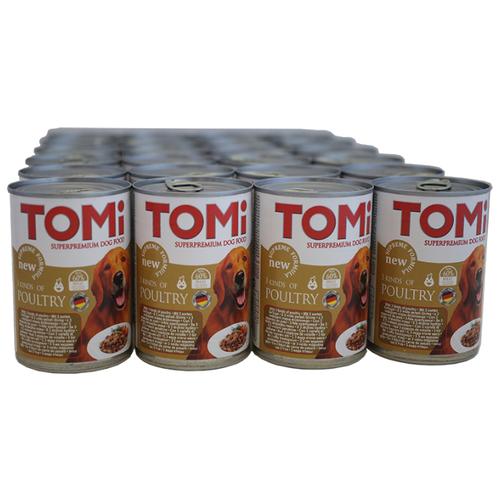 Влажный корм для собак ToMi индейка, курица 24шт. х 400г- преимущества, отзывы, как заказать товар за 3171 руб. Бренд ToMi