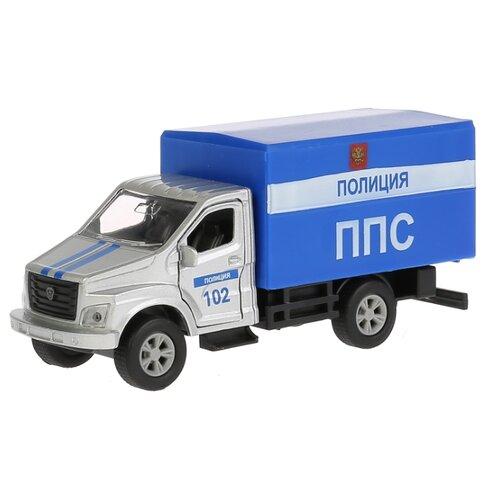 цена Фургон ТЕХНОПАРК Газон Next (SB-18-17-P-WB) 1:43 14.5 см серый/синий онлайн в 2017 году