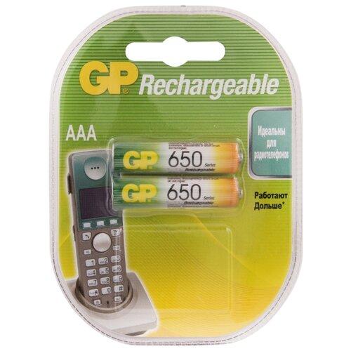 Фото - Аккумулятор Ni-Mh 650 мА·ч GP Rechargeable 650 Series AAA 2 шт блистер аккумулятор ni mh 1000 ма·ч gp rechargeable 1000 series aaa usb светильник 4 шт блистер
