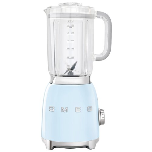 Стационарный блендер smeg BLF01PBEU, пастельный голубой соковыжималка для цитрусовых smeg пастельный голубой cjf01pbeu
