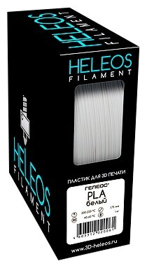 PLA пруток Heleos 1,75 мм белый