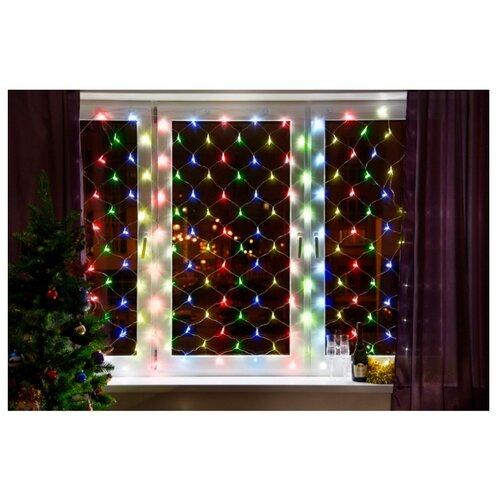 Фото - Гирлянда NEON-NIGHT Сеть, 180 LED, 180х150 см, 180 ламп, разноцветный/прозрачный провод light светодиодная сеть белая 2x2 прозрачный провод
