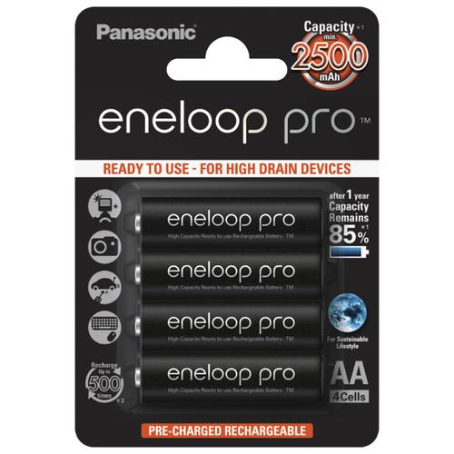Фото - Аккумулятор Ni-Mh 2500 мА·ч Panasonic eneloop pro AA, 4 шт. аккумулятор ni mh 2500 ма·ч camelion nh aa2500 2 шт