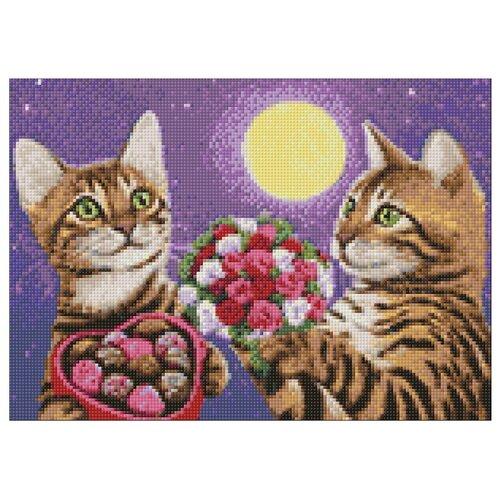 Фото - Гранни Набор алмазной вышивки Мартовские песни (Ag 113) 38х27 см мартовские коты