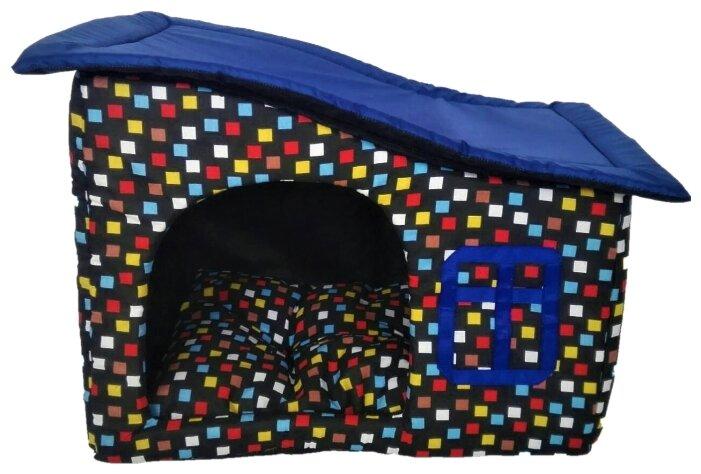 Домик для кошек, для собак LOORI Кубики Z9095 50х35х40 см синий