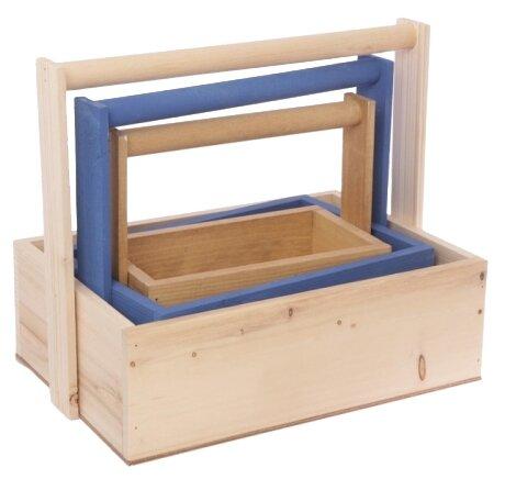 Ящик Дарите счастье набор 3 в 1 с шильдиком и ручкой Beauty 31,5×21,5×26 см