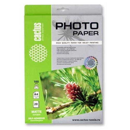 Фото - Бумага cactus A3 CS-MSA310020 100 г/м² 20 лист., белый бумага для плоттера cactus cs pc90 61045 24 610мм x 45м 90г м2 с покрытием