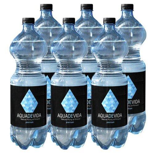 Вода питьевая родниковая Aquadevida негазированная, ПЭТ, 6 шт. по 1.5 л