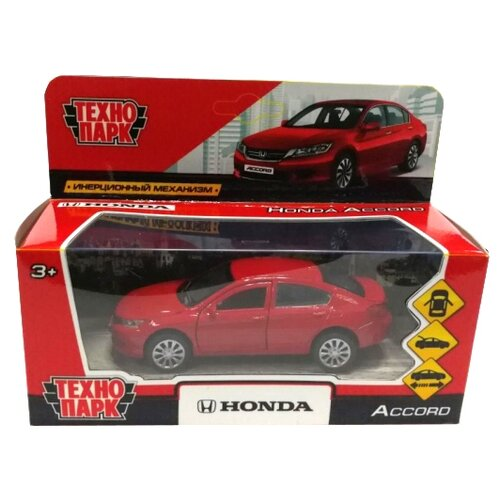 Легковой автомобиль ТЕХНОПАРК Honda Accord (ACCORD-BU/GY/RD) 12 см красныйМашинки и техника<br>