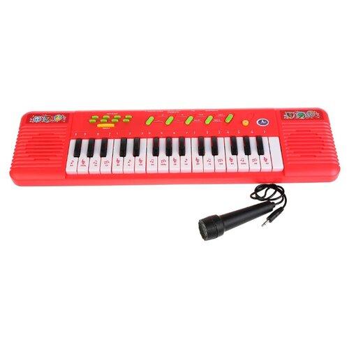 Купить Умка пианино B1439819-R1 красный, Детские музыкальные инструменты