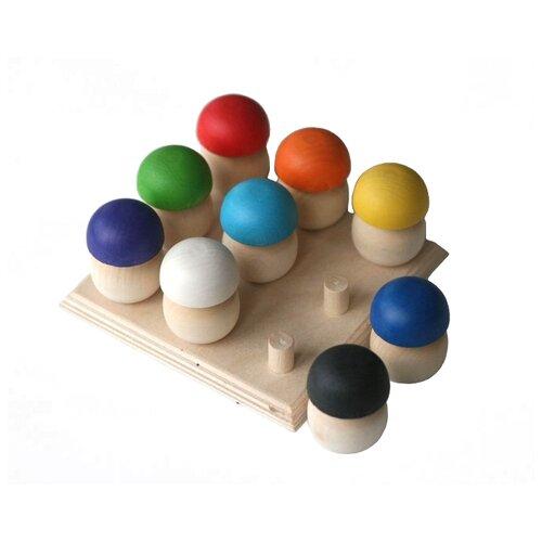 Фото - Сортер Уланик Грибная поляна маленькая деревянные игрушки уланик игра монтессори грибная поляна 25 грибочков