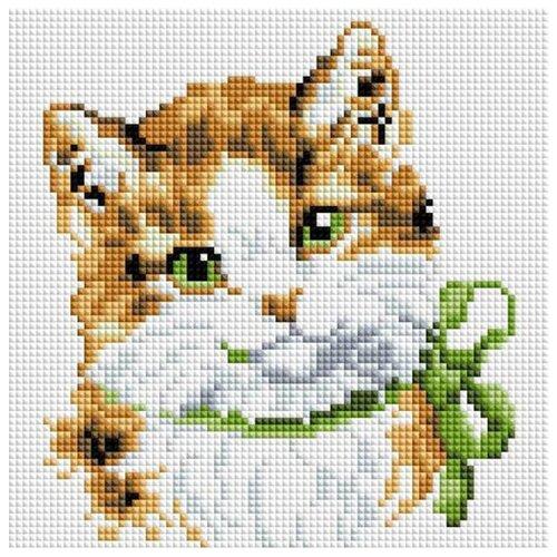 Купить Белоснежка Набор алмазной вышивки Кошка Алиса (015-ST-S) 20х20 см, Алмазная вышивка