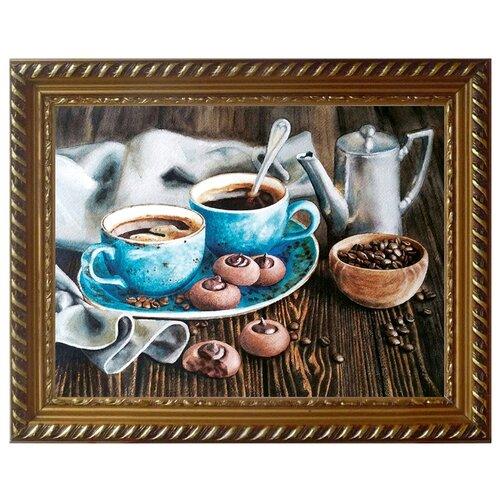 Купить Алмазная живопись Набор алмазной вышивки Кофейная романтика (АЖ-1424) 40x30 см, Алмазная вышивка