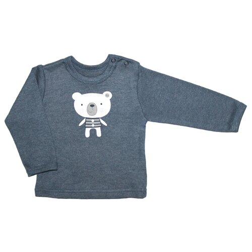 Лонгслив Веселый Малыш размер 74, темно-синий, Футболки и рубашки  - купить со скидкой