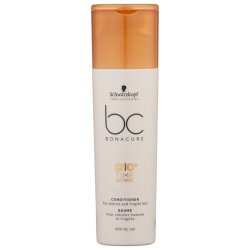 BC Bonacure кондиционер Q10+ Time Restore, 200 мл шварцкопф bc bonacure hairtherapy fibreforce