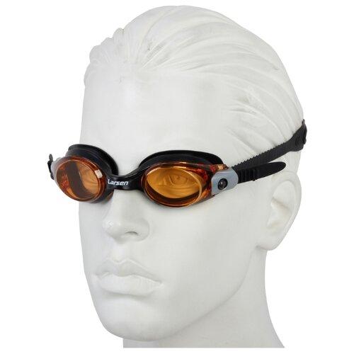 Фото - Очки для плавания Larsen S28 желтый/черный очки для плавания larsen dr g101 черный