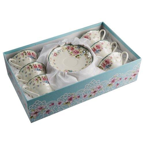 Чайный сервиз Rosario Сеньорита Ф2-023Р/6 12 предметов белый/розовый il trovatore rosario
