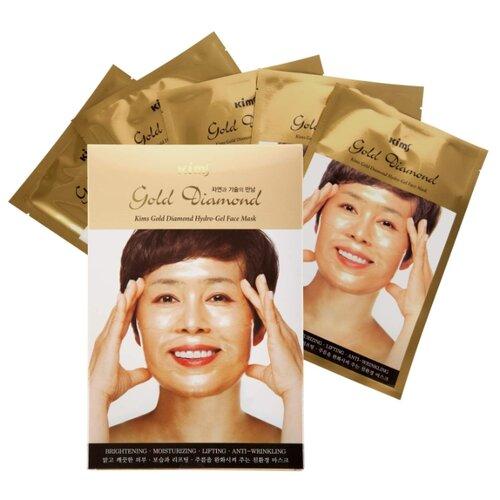 Kims Gold Diamond Hydro-Gel гидрогелевая маска с алмазной пылью и золотом, 30 мл, 5 шт.Маски<br>