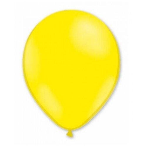 Набор воздушных шаров MILAND Металлик 21 см (100 шт.) лимонно-желтый