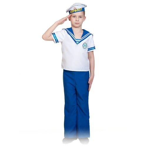 Купить Костюм КарнавалOFF Воины победы Морячок (5035), белый/синий, размер 140-146, Карнавальные костюмы