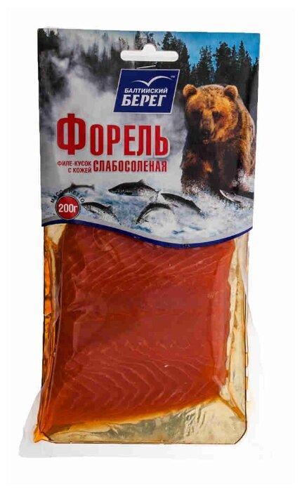 Балтийский берег Форель филе-кусок с кожей слабосоленая