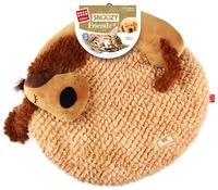 Лежак для кошек, для собак GiGwi Snoozy Friendz Собака 3D 57х50х5 см коричневый