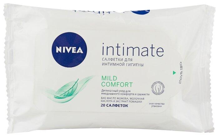 Nivea Влажные салфетки для интимной гигиены Intimate Natural, 20 шт