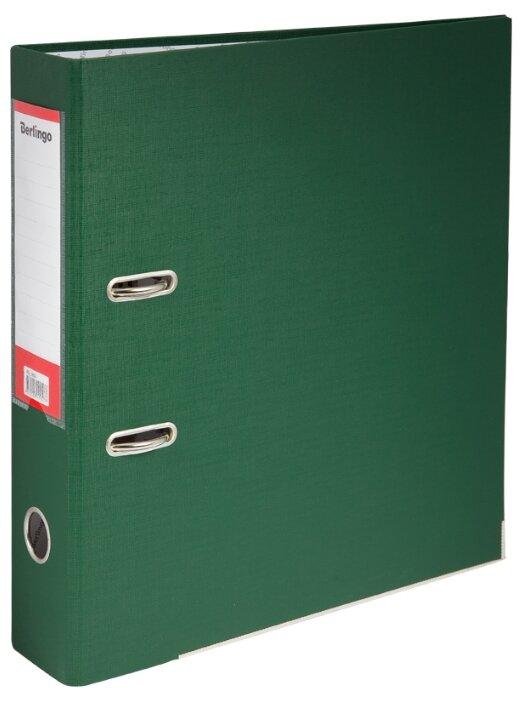 Купить Berlingo Папка-регистратор с арочным механизмом Mega Top A4, 70 мм, бумвинил зеленый по низкой цене с доставкой из Яндекс.Маркета