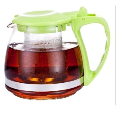 Фото - МФК Заварочный чайник стеклянный 700 мл, зеленый чайник заварочный 0 95л rose зеленый