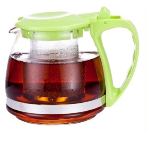 МФК Заварочный чайник стеклянный 700 мл зеленый
