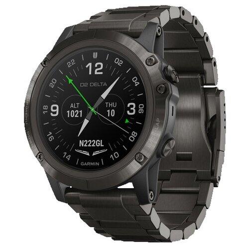 Умные часы Garmin D2 Delta PX with DLC Titianium Band титановый