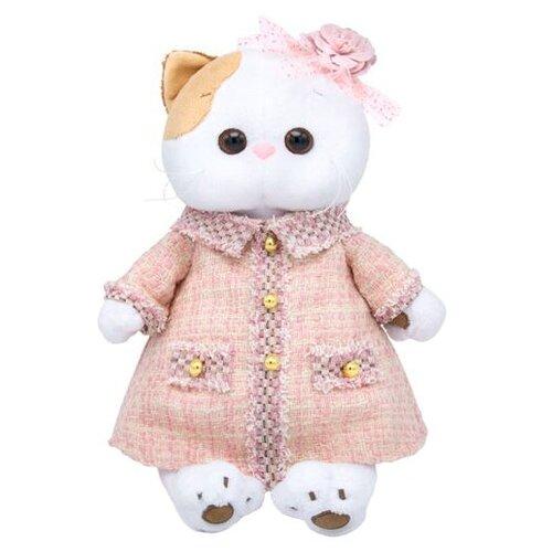 Купить Мягкая игрушка Basik&Co Кошка Ли-Ли в розовом костюме в клетку 24 см, Мягкие игрушки