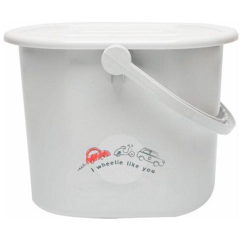 Ведро для наполнения, слива ванночки и использованных подгузников Bebe Jou путешественник фреш клаб пакеты для использованных подгузников 100шт