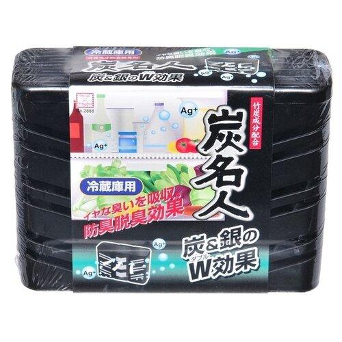 Kokubo поглотитель запахов для общего отделения холодильника с древесным углем и ионами серебра, 60 гр