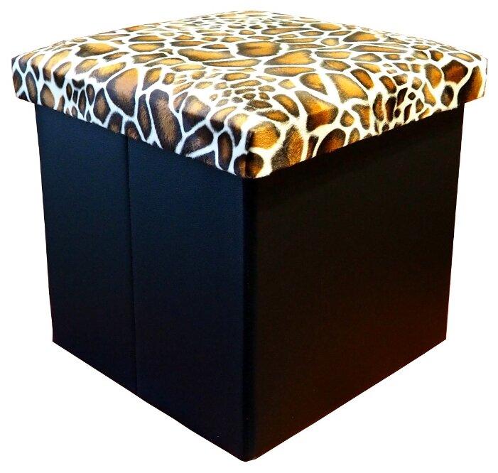 Пуфик с ящиком для хранения Тематика складной, текстиль, искусственная кожа