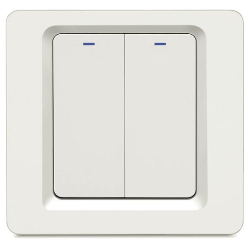 Фото - Умный встраиваемый Wi-Fi выключатель HIPER IoT Switch B02, 2 линии, белый умный wi fi модуль выключатель hiper iot switch m02 белый hdy sm02